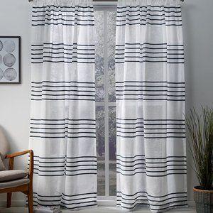 Exclusive Home Monet Sheer Indigo Curtain Set